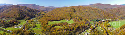 Outdoors Photograph - Panoramic From Seneca Rock  West Virginia by Oscar Gutierrez