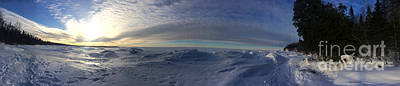Photograph - Panoramic Frozen Lake Superior by Kate Purdy