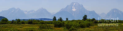 Photograph - Panoramic Grand Tetons by Jennifer White