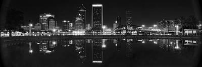 Panoramic Jacksonville Night Art Print