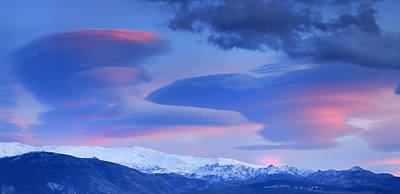 Exterior Photograph - Panoramic Lenticular Clouds Over Sierra Nevada National Park by Guido Montanes Castillo