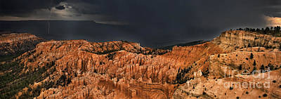 Photograph - Panoramic Lightning Thunderstorm Bryce Canyon National Park Utah by Dave Welling