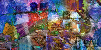 Abstract Fields Digital Art - Panoramic by Lutz Baar