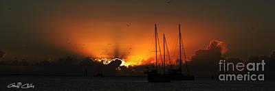 Colourfull Photograph - Panoramic Marine Splendor - Sunset. by Geoff Childs
