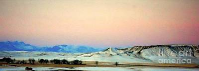 Photograph - Panoramic Mountain Sunrise by Desiree Paquette