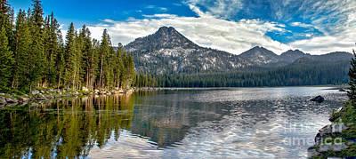 Panoramic Of Anthony Lake Art Print