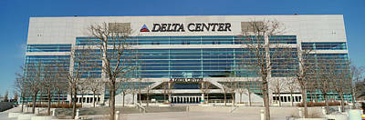 Panoramic Of Delta Center Building Art Print