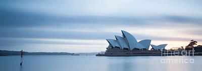 Opera House Photograph - Panoramic Of Opera House At Sunrise Sydney Australia by Matteo Colombo