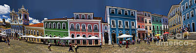 Photograph - Panoramic Of Salvador Brazil Street Scene by David Smith