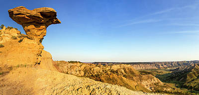 Large Format Photograph - Panoramic Of The Badlands by Chuck Haney