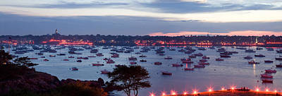 Panoramic Of The Marblehead Illumination Art Print
