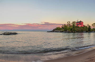 Marquette Wall Art - Photograph - Panoramic Of The Marquette Harbor by Chuck Haney