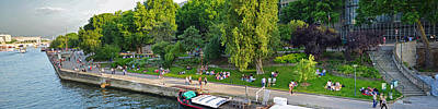 Photograph - Panoramic Of The Seine River Beautiful Day by Toby McGuire