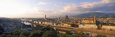 Panoramic Overview Of Florence Art Print by Panoramic Images