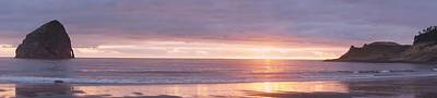 Photograph - Panoramic Pacific City Sunset by Angi Parks
