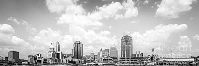 Panoramic Picture Of Cincinnati Skyline Print by Paul Velgos