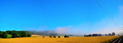 Panoramic Picture Of Wheat Field Original by Tommytechno Sweden