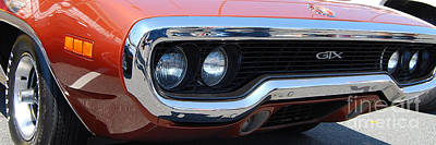Photograph - panoramic Plymouth GTX by Mark Spearman