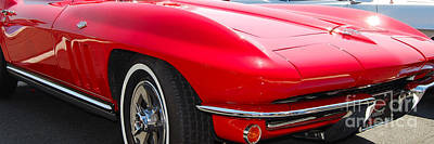 panoramic red Corvette Art Print
