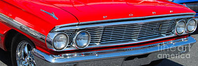 Photograph - panoramic red Galaxie 500 by Mark Spearman