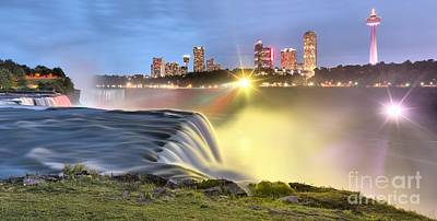 Photograph - Panoramic Starbursts On The Niagara Skyline by Adam Jewell