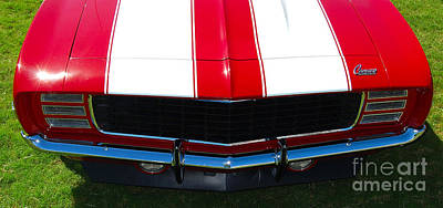 Photograph - panoramic striped Camaro by Mark Spearman
