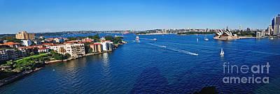 Panoramic Sydney Harbour Art Print by Kaye Menner