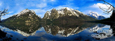 Photograph - Panoramic Tetons by Rex E Ater