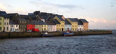 River Corrib Photograph - Panoramic The Long Walk Galway City by Patrick Dinneen