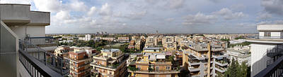 Photograph - Panoramic View From Pineta Palace Hotel In Rome by David Coblitz
