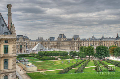 Photograph - Panoramic View Musee Du Louvre by Malu Couttolenc