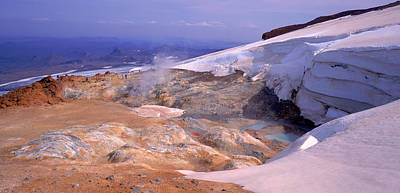 Panoramic View Of A Geothermal Area Art Print by Panoramic Images