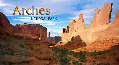Arches National Park Painting - Panoramic View Of Arches National Park  by Elaine Plesser