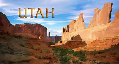 Arches National Park Painting - Panoramic View Of Arches Nationap Park Utah by Elaine Plesser