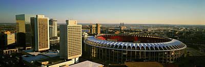 Panoramic View Of Busch Stadium Art Print
