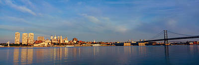 Panoramic View Of Delaware River Art Print by Panoramic Images