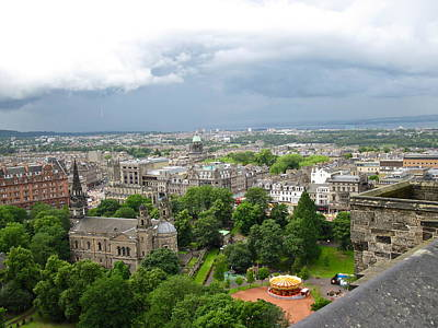 Photograph - Panoramic View Of Edinburgh by Denise Mazzocco