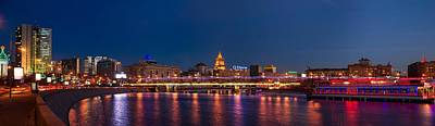 Winter Light Photograph - Panoramic View Of Krasnopresnenskaya Embankment Of Moscow City - Featured 3 by Alexander Senin