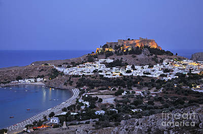 Panoramic View Of Lindos Art Print