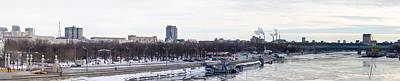 Panoramic View Of Moscow Gorky Park In Wintertime Art Print by Alexander Senin