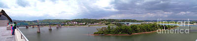 Photograph - Panoramic View Of North Shore Chattanooga Tennessee by   Joe Beasley