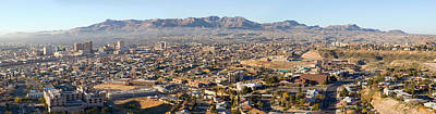 El Paso Photograph - Panoramic View Of Skyline And Downtown by Panoramic Images
