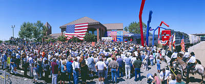 Presidential Elections Photograph - Panoramic View Of Spectators At Oxnard by Panoramic Images