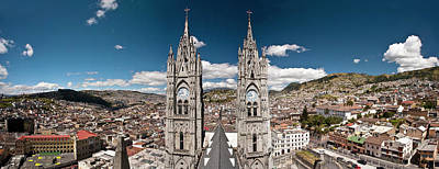 Ecuador Photograph - Panoramic View Of The Bell Towers by Brent Bergherm