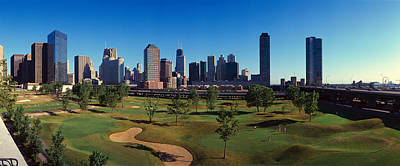Panoramic View Of The City Skyline Art Print by Panoramic Images