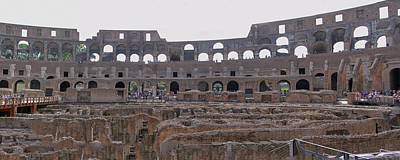 Panoramic View Of The Colosseum Art Print