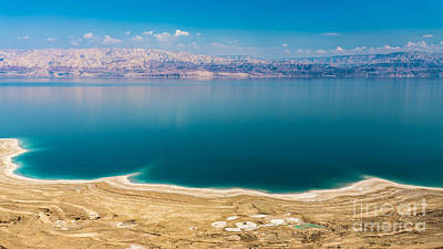Outlook Photograph - Panoramic View Of The Dead Sea by Jacki Soikis