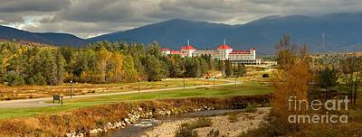 Photograph - Panoramic View Of The Whie Mountains Omni Resort by Adam Jewell