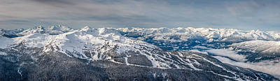 British Columbia Photograph - Panoramic View Of Whistler Mountain by Pierre Leclerc Photography