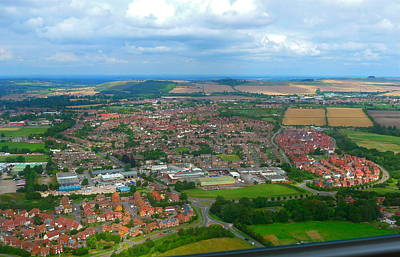 Photograph - Panoramic View Over England by Denise Mazzocco